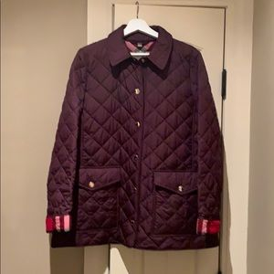 NWOT Burberry Quilted Jacket with Red Check